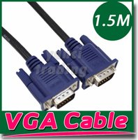 Wholesale 1 M FT DVI to VGA converter adapter cable VGA male to DVI male cable adapter SVGA VGA Monitor M M Male To Male Extension Cable