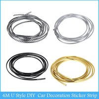 Strips Universal Universal 4M U Style DIY Car Interior Air Conditioner Outlet Vent Grille Chrome Car Decoration Sticker Strip C426