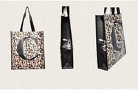 Sac léopard lettre d'impression non-tissé achats pliage L / C / M sac shopper sac réutilisable de support à membrane