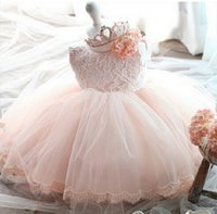 Wholesale High Quality Baby Girl Dress Baptism Dresses for Girls Kids Birthday clothes for Baby Girl Christening clothing for toddler Baby