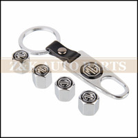 air free mg - GPS Tool Wrench Keychain MG Logo Silver Car Tyre Valve Caps Air Dust Covers