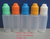 Wholesale Plastic Dropper Bottle Different Size ml ml ml ml ml ml with childproof caps colorful caps