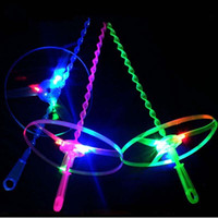 Wholesale LED Flying Up Led Amazing Helicopter Light Toy Spin Fly up Outdoor Play Amazing Sports Funny Birthday Party Supplies Kids Gift