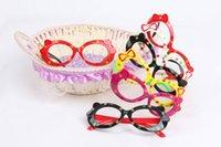 Wholesale Fashion Sunglasses Frames For Kids Children Dot Bowknot Decorative Glasses Frames For Girls