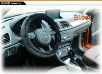 Wholesale Winter cover warm plush car steering wheel cover hand brake shift lever cover gears lever manual automatic general pieces set M4319