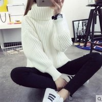 jumpers - Wool Knitted Women Sweaters And Pullovers Hot Oversized Sweater Women Winter Christmas Jumpers Turtleneck G255