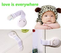 Wholesale 5 Wardrobe Drawers Toilet Safety Plastic Lock For Child Kid baby safety