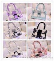 Wholesale 2015 Women s fashion Jelly Purse Clear Transparent Summer Beach Totes Shopper Beach Shoulder Bag Handbag LB51