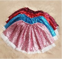Wholesale New Sequin tutu skirts for baby girls Summer Lace children skirts Cute Bling girl pettiskirts Korean Fashion Princess Skirt CX055