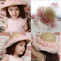 Wholesale 2016 womens stingy brim hats sun hats for children hats romantic floral hats baseball hats church hats