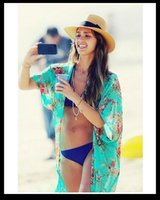Wholesale Jessica Alba Cover Up Summer Beach Cover Up Dress Sexy Sheer Swimsuit Cover Up Tassel Bathing Suit Cover Ups Kaftan Beach Kimono Beach Wear