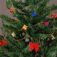 christmas tree ornaments - New Year Color Random Christmas Tree Ornament bell pine cone bowknot decorative chains Haning Decorations