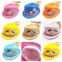 baby bonnet sun hat - 2015 New Fashion Korean Children Hats Baby straw hat Summer Sun Hat for boys and girls Kids jazz hats baby hat Fashion Bonnet