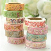 Wholesale Color Cartoon Printing Washi Paper Tape Decorative Stickers Stationery Supplies New Hot Sell Creative Fashion Shipping From China