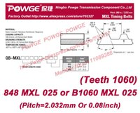 Wholesale Free shippinng MXL Timing belts MXL length mm teeth width quot mm B1060 MXL