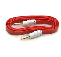 audio dvi - 3 mm Aux Audio Cable Male to Male Flat Stereo Auxiliary Music Cord cables for speakers cell phone iphone samsung Huawei