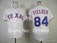 bes pricing - 2015 New Drop Shipping Low Price New Cheap Texas Rangers Jersey Prince Fielder White Blue Cool Base Baseball Jerseys All Sewn Bes
