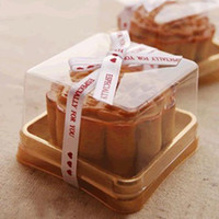 Wholesale Plastic Cake Box Single Individual Cake Boxes Golden Bottom Plastic Mooncake Pvc Boxes Food Gift Packaging cm A2
