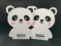 Wholesale 1pari cartoon iron bookend lovely panda bear rabbit bookend child stationery bookend Office Supplies