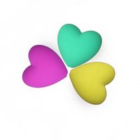 Wholesale Baby Safe Silicone Teething Beads Heart Shape Chewable FDA BPA Free DIY Necklaces Jewels