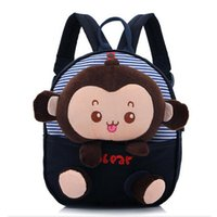 Wholesale New Arrival Cute cartoon monkey plush doll toy kid children backpacks student school bag satchels Gift for Children Colors churchill