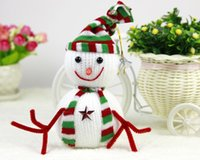 Wholesale Christmas decorations Classical Christmas Snowman Decoration Christmas Trees Decorated Snowman in S M L eck233