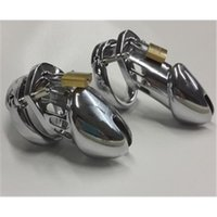 Cheap Male Chastity Cock Cage with Spike Ring Stainless Steel Chastity belt Fetish Bondage Adult sex toys SM Chastity Device