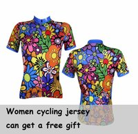 Wholesale 2015 New Summer Women Outdoor Sports Riding Cycling Bike Bicycle Road BMX Short sleeve Jerseys Ciclismo Jersey Shirts XS XL