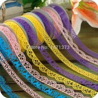 Wholesale 2015 Scrapbooking Tools Adhesive Tape Washi Paper Lace Roll Diy Decorative Sticky Masking Self Hot Sell