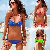 absolute wear - Multicolor two wear absolute flashy fluorescent green sexy swimwear Bikini swimsuit female Promotion
