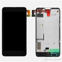 Wholesale For Nokia Lumia Black Color LCD Display Touch Screen Digitizer Assembly with Frame Replacement