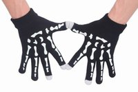 Wholesale Stylish Halloween Knitted Touch Screen Texting Gloves Winter Warm Luminous Gloves For Iphone Ipad EIC5