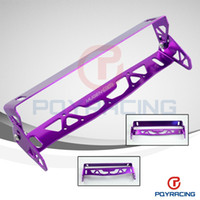 Wholesale PQY STORE MUGEN CAR UNIVERSAL ALUMINUM LICENSE PLATE FRAMES FRAME TAG HOLDER FOLDABLE PQY LPF71 Red Blue Purple Black