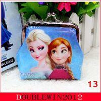 Wholesale Retails chilldren s wallet princess Elsa Anna money bag baby girls Frozen Coin Purses kids wallet