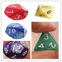 Wholesale Fashion Hot Set Resin Polyhedral TRPG Games For Dungeons Dragons Opaque D4 D20 Multi Sides Dice Pop for Game Gaming
