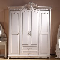 Wholesale hot explosion models Continental French furniture wood wardrobe lockers paint manufacturers