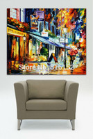 architecture usa - Architecture Art Palette Knife Oil Painting USA UK Mediterranean Cityscape Picture Printed On Canvas For Home Office Wall Decor
