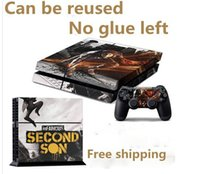 Cheap InFAMOUS: Second Son Game Decal Skin Sticker For Playstation 4 PS4 Console+2Pcs Stickers For PS4 Controller