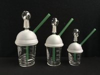 Wholesale 2015 Newest Starbucks Cup Glass Water pipe Bubbler Hand Blown glass bong smoking water pipes with mm mm mm dome and nail oil rigs