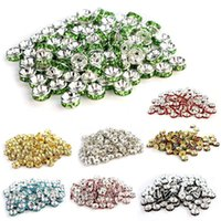 Wholesale 2014 New Arrival Rhinestone Crystal Rondelle Spacer Beads Plated mm Jewelry Findings Charms