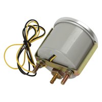 Wholesale 5pcs quot mm in Hg PSI Super White Light Led Car Universal Turbo Boost Gauge CEC_522