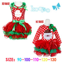 baby cakes yarn - Whosale New Arrival Children Christmas Dress Red Cake Skirts Kids Tutu Dress Princess Party Dress Baby Girl Snowman Bowknot Yarn Skirt New