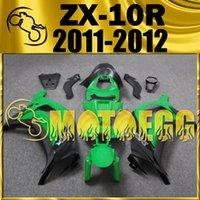 Wholesale Five Gifts Motoegg Hotsell Injection Mold Fairings For Kawasaki Ninja ZX R ZX R ZX10R Body Kit Black Green K19M21