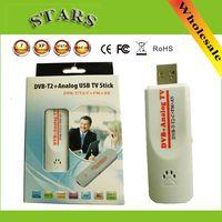 analog pvr - Digital DVB t2 PVR Analog USB TV stick Tuner Dongle PAL NTSC SECAM with antenna Remote HDTV Receiver for DVB T2 DVB C FM DVB AV