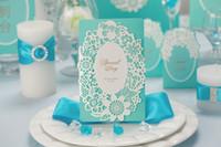 invitation letter - Blue set of system Wedding invitations wedding invitations creative personality invitation invitation letter