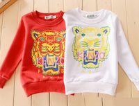 Wholesale Autumn Cotton Tiger Pattern Long sleeved Hoodies Sweatshirts baby s shoulder buckle coat Baby Tees Tops