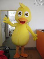 Wholesale 2016 new Baby Duck Bird Mascot Costumes Fancy Dress Halloween Party Cartoon Adult Size Suit