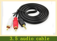 Wholesale TV audio line turn one point two RCA audio cable to connect the phone speaker cable