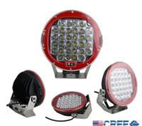 atv light led - 96W quot INCH Red Cree led work light Bar LED Driving Worklight Jeep Bright Round LED Work Light Off Road SUV ATV WD x4 v V