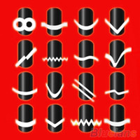 nail stencils - New Chic DIY Style French Manicure Nail Art Tips Tape Sticker Guide Stencil QDB